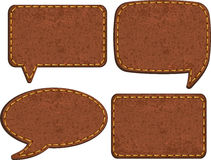 Set of jeans leather labels. Vector Stock Photos