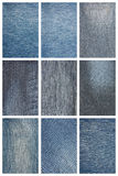 Set jeans texture Stock Photo