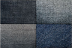 Set of jeans texture Stock Photography