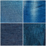 Set of jeans texture backgrounds Royalty Free Stock Images