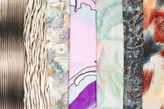 Set jedwabniczy scarves Fotografia Stock