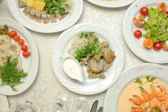 Set jedzenie Obraz Stock