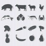 Set jedzenie i produkty Zdjęcie Stock