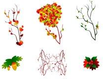 Set jesień ilustracji