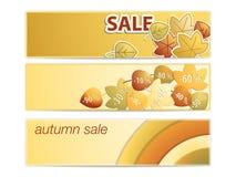 Set jesień sztandary Zdjęcie Royalty Free