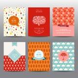 Set jesieni karty i broszurki royalty ilustracja