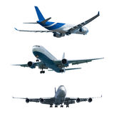 Set of a jet airplanes Royalty Free Stock Photo