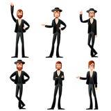 Set of jew icons Stock Photos