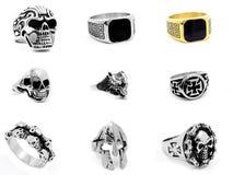 Set jewellery fotografie pierścienie 375 magna stal nierdzewna 04 Obraz Stock