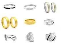 Set jewellery fotografie pierścienie 375 magna stal nierdzewna 04 Fotografia Stock