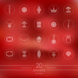 Set of jewelry icons Royalty Free Stock Photos