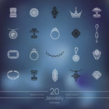 Set of jewelry icons Royalty Free Stock Image