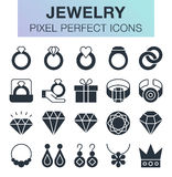 Set of jewelry icons. Pixel perfect trendy icons for mobile apps and web design Stock Photos