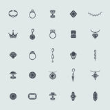 Set of jewelry icons. Set of jewelry simple web icons for Web and Mobile Applications Royalty Free Stock Images