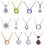 Set of jewelry pendants Royalty Free Stock Photo