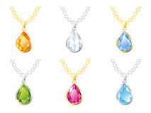 Set jewelry pendants Royalty Free Stock Photo