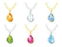 Set jewelry pendants Royalty Free Stock Photo