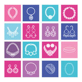 Set of jewelry women accessories Royalty Free Stock Photo