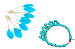 A set of jewelry for women Stock Photos