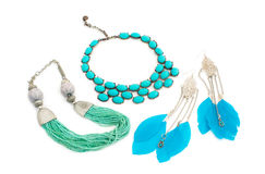 A set of jewelry for women Royalty Free Stock Image
