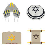Set of jewish objects Stock Image