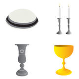 Set of jewish objects Stock Photo