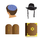Set of jewish objects Royalty Free Stock Image