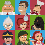 Job avatars Royalty Free Stock Photography