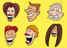 Set of jolly faces Stock Image