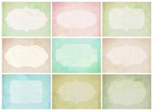 Set of journaling card for scrapbook and design. Stock Images