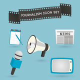 Set of journalism icons Stock Photo
