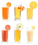 Set of juice Stock Photos