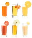 Set of juice Stock Photos