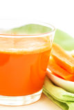 Set with juice and carrots Royalty Free Stock Photo