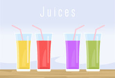 Set of juice Stock Images