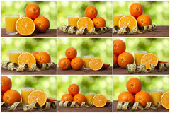 Set of juice of orange Stock Photo