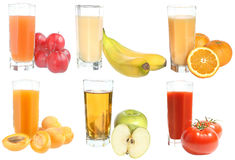 Set of juices Royalty Free Stock Photography