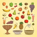 Set of juicy fresh fruits Royalty Free Stock Photos