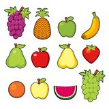 Set of juicy fruits Royalty Free Stock Photo