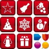 Set jul för symbol Arkivbilder