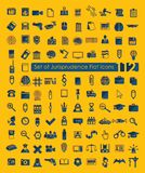 Set of jurisprudence icons Stock Photo