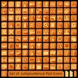 Set of jurisprudence icons Royalty Free Stock Photos