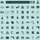 Set of jurisprudence icons Royalty Free Stock Images