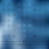 Set of jurisprudence icons Royalty Free Stock Photography