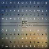 Set of jurisprudence icons Royalty Free Stock Photography