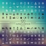Set of jurisprudence icons Stock Image