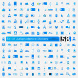 Set of jurisprudence stickers Royalty Free Stock Photography