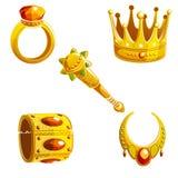 Set königliche Schmucksachen lizenzfreie abbildung