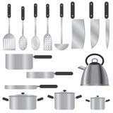 Set Küchegeräte. stock abbildung