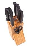 Set Küchemesser und -scheren Lizenzfreies Stockbild
